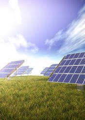 大型室外太陽能板