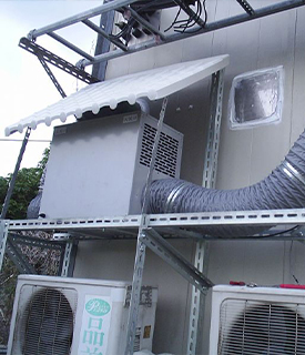 Installation case of a telecom base station in Taiwan
